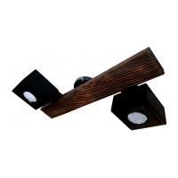 Lustra din lemn, realizata manual